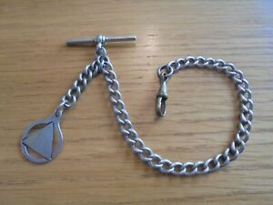 antique pocket watch chain and fob