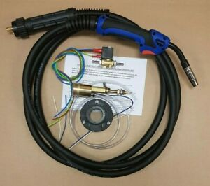 MIG WELDER EURO TORCH CONVERSION KIT INCLUDING MB15 4MTR TORCH & GAS SOLENOID e6