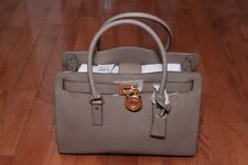 NWT Michael Kors $358 Large Leather Hamilton East West Satchel Handbag Dark Dune