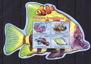 Guinea Bissau - Fish - NAture - stamsp - Briefmarken - MNH** - Z18