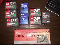 Bicycle TUBE, Standard Valve, Various Sizes