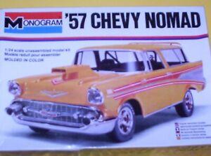 Monogram  1/24  scale  1957  Chevy  Nomad   model  car ---  SEALED  OLDIE