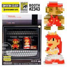 SDCC 2017 PRESALE EE World Nintendo Super Mario Princess Peach 8-Bit Mini Figure