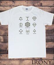 Men's T-Shirt Alchemy Circle Symbols Air Hermetic Elements Print TS1857