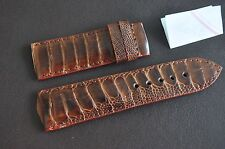 26/24mm Genuine Ostrich Leg Leather Strap Band handmade !!!NEW STYLE !!! DD12