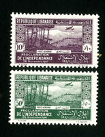 Lebanon Stamps # C81-2 VF OG LH