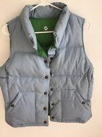 Ralph Lauren Polo Jeans Womens Down Quilted Vest Size:M Reversable Blue/green