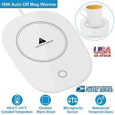 Electric Coffee Warmer Cup Heater Tea Milk Mug Coaster Automatic Shut Off