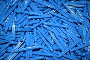 """KNEX BUILDING TOY LOT 50 Flexi Rods 2"""" Blue 1 5/16"""" Light Blue Flexible Parts"""