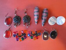 Six Old some Vintage Pairs og Earrings all in Very Good Cond. LOWER PRICE