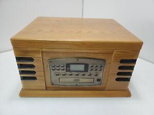 Crosley CR 78CD Brown Wooden CD Cassette Radio Multimedia Player U133