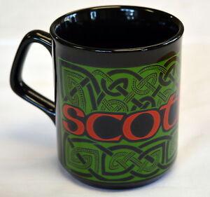 CELTIC PATTERNS design  black SCOTLAND  MUG , Scottish