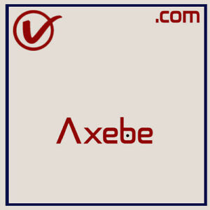 Axebe.com | Pronounceable And Brandable LLLLL COM Domain Name 5 Letter 5L