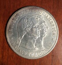 U.S. 1900 LAFAYETTE 1 DOLLAR SILVER COMMEMORATIVE COIN, ALMOST UNCIRCULATED+