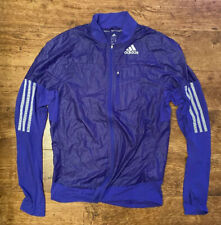 ADIDAS ADIZERO ClimaLite Men's Running Jacket in Blue / Purple SMALL