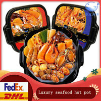 Luxury Seafood Chinese Hotpot Instant Self Heating Cooking Noodle Asian Snacks