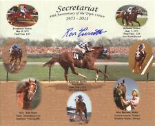 "Secretariat 40th Anniversary Collage 8"" x 10"" Photo Signed Ron Turcotte"
