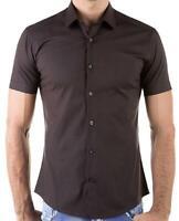 Herrenhemd Hemd Freizeithemd Slim-Fit Shirt Kurzarm Sommerhemd Tailliert Polo