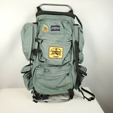 Vintage 80s Jansport USA External Frame Hiking Backpack Hip Wings Green