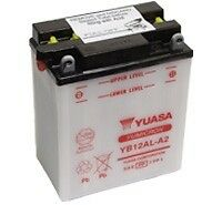 Yuasa YB12AL-A2, 12v 12Ah 150 CCA Motorbike Motorcycle Battery Inc Filling Kit