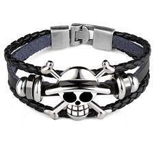 Black Skull Head Pirates Bracelet Cool Bracelet Unisex Braided Skeleton Fashion