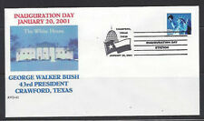 George W. Bush 1st term Inaugural cover with Crawford, TX cancel