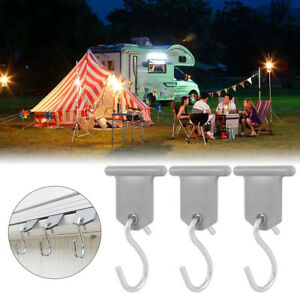 RV Awning Accessory Hangers 8 Pairs Awning S Hook Hangers Plastic and Metal