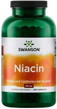 Swanson Niacin (Vitamin B3) 500mg 250 caps ENERGY & CARDIOVASCULAR SUPPORT