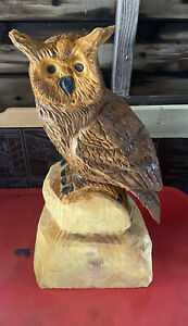 Chainsaw Carved Owl Owl Carving Wood Carvings