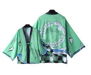 new Demon Slayer Kimetsu no Yaiba Halloween Cosplay Costume Jacket Haori Kimono