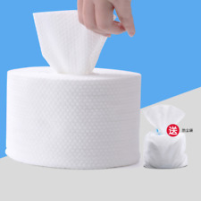1 Roll Disposable Travel Cotton Dry Wet Dual-use Towel Washcloth Facial Cleanser