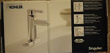 NEW KOHLER Singulier Single Hole Single-Handle Bathroom Faucet in Polished Chrom