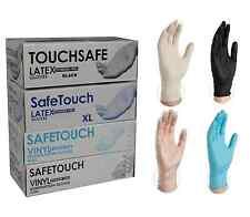 Powder Free Disposable Clear Vinyl, Black & White Latex Blue Nitrile Gloves 100