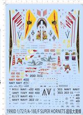 1/72 F/A-18E/F Super Hornets D Model Kit Water Decal
