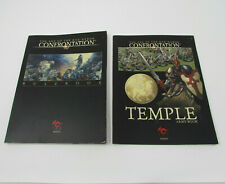 Confrontation Age of Rag'Narok Lot of 2 Books Rulebook Temple Army Book Used