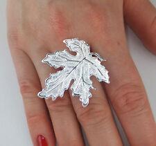 JoliKo Ring Silber pl Ahorn Blatt Herbst Silver Maple Leaf Memory of Summer
