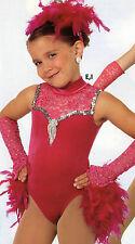 NWOT Velvet Rasberry Leotard w/ 2 SKIRTS & Mitts & Headpiece Small child Lace