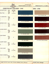 1946 1947 1948 CHRYSLER IMPERIAL NEW YORKER SARATOGA PAINT CHIPS 46 ACME 13PC 3