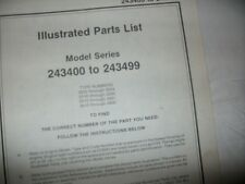 briggs stratton 24300 to 243499 illustrated parts list,briggs & statton engine