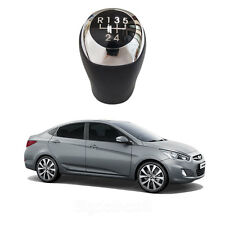 New Manual Leather 5Speed Gear Shift Knob for Hyundai Accent 2011 - 2013