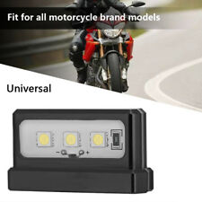 Universal Motorcycle License Plate Tail LED Light For All Motor Brand Models