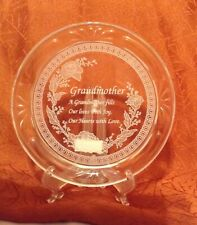 Glass Decorative Plate For Grandmother With Loving Sentiment