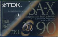 TDK SA-X 90 blank chrome cassette tape - brand new sealed SAX 90 ET
