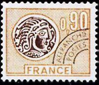 "FRANCE PREOBLITERE TIMBRE STAMP 142 "" MONNAIE GAULOISE 90C ORANGE "" NEUF xx LUXE"