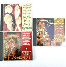 Lot Of 3 Country Christmas Music CD Collection A Treasury Of Christmas Holiday