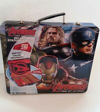 Marvels Avengers Age Of Ultron Deluxe Stationary Art Set Tatoo Crayon Kit