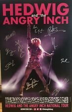 Euan Morton + Cast Signed HEDWIG AND THE ANGRY INCH Poster Windowcard