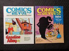 1985 COMICS REVUE Magazine LOT of 2 #16 FN- #24 FN Flash Gordon Popeye