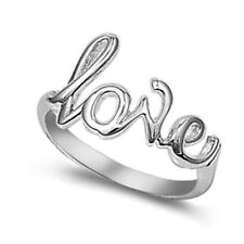 Silver Love Sign Ring Sterling Silver 925 Best Deal Plain Jewelry Gift Size 10