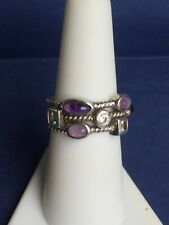 Vintage ESPO 925 Sterling Silver CZ Ring Sz 7 Stackable